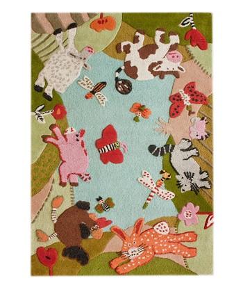 Farm Animal Wool Rug