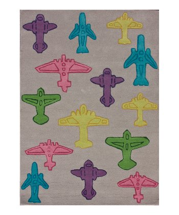 Gray Take Flight Wool Rug