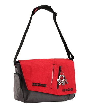 Red & Gray Loft Samurai Messenger Diaper Bag
