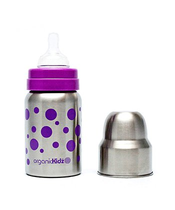 Lavender Dot Wide-Mouth 9-Oz. Bottle
