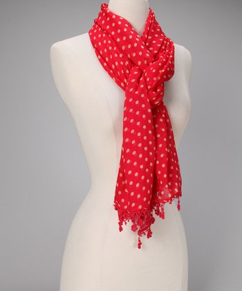 Red Hot Lucy Merino Wool Scarf