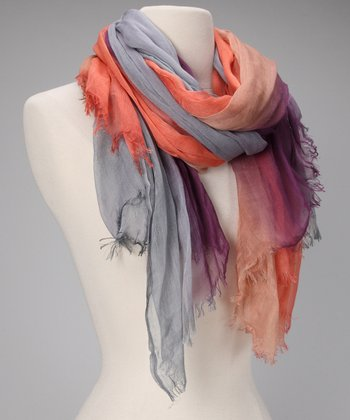 Gray & Orange Rockstar Scarf