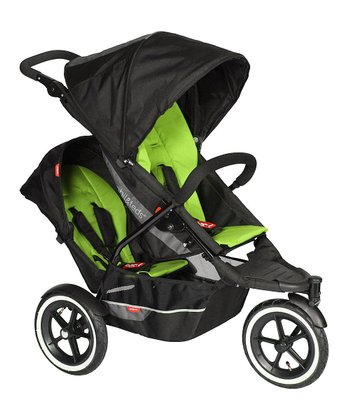 Black & Apple Green Explorer Double Your Buggy Bundle