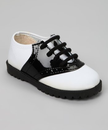 pitter patter black white saddle shoe zulily