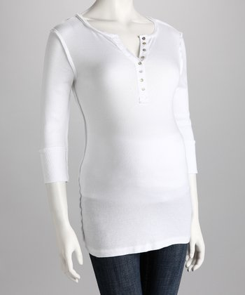 White Maternity Henley