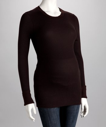 Coffee Bean Maternity Crewneck Tee