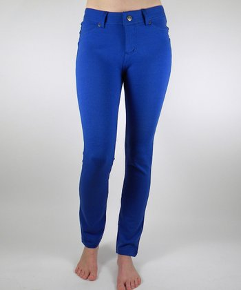 Royal Blue Jeggings - Women