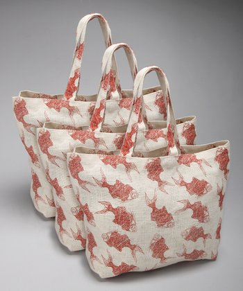 Koi Oversize Tote - Set of Three