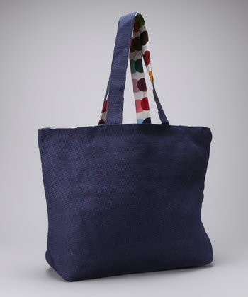 Navy Blue Kaleidoscope Tote