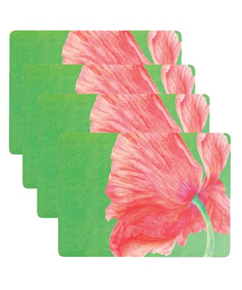 Papaver Orientale Place Mat - Set of Four