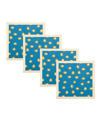 Blue Pansy Napkin - Set of Four