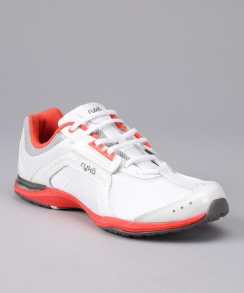White & Coral Transition Fitness Training Athletic Shoe
