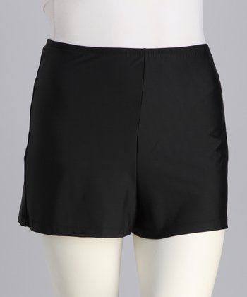 Black Plus-Size Swim Shorts