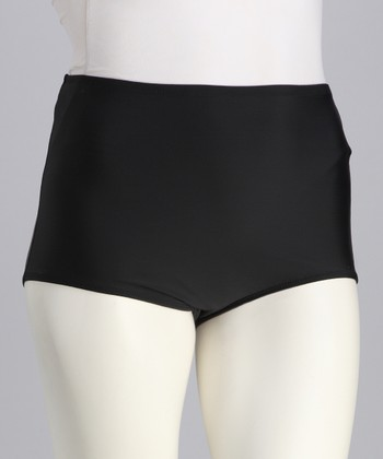 Black Boyshort Bikini Bottoms - Women & Plus