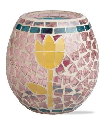 Tulip Mosaic Votive