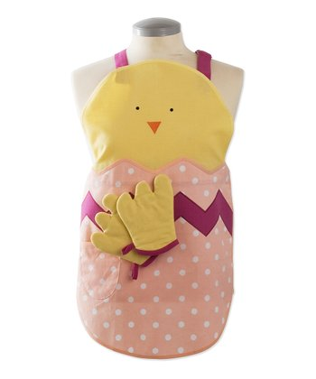 Yellow Chick Easter Apron Set - Kids