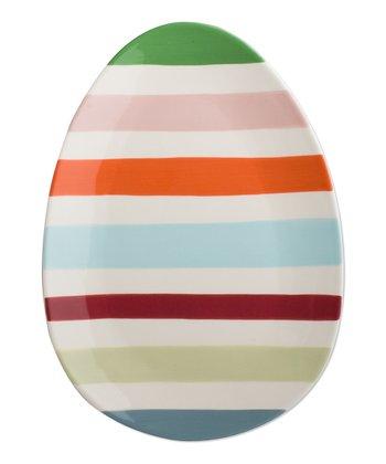Easter Egg Stripe Platter