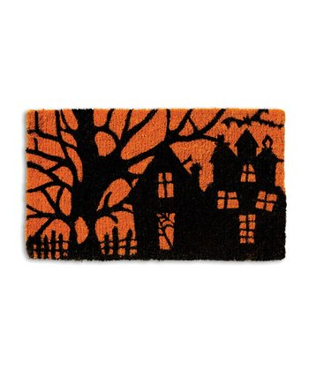 Haunted Neighborhood Coir Doormat
