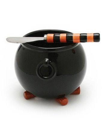 Black Cauldron Dip Bowl & Spreader
