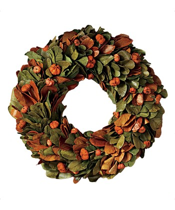 Harvest Pumpkin Wreath