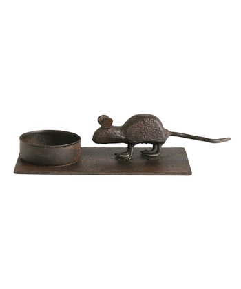 Black Mouse Candleholder