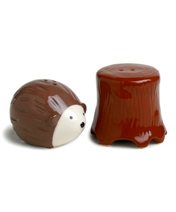 Chocolate Hedgehog & Tree Salt & Pepper Shakers