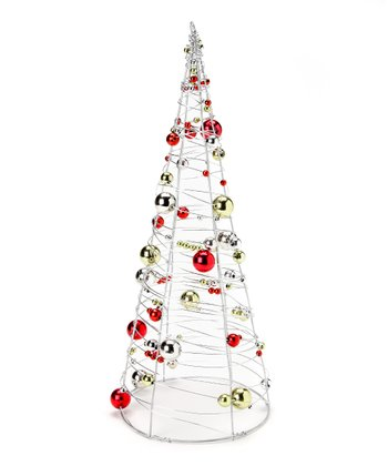 Glitter Wire Bead Large Tree