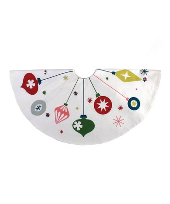 Holiday Ornaments Mini Tree Skirt