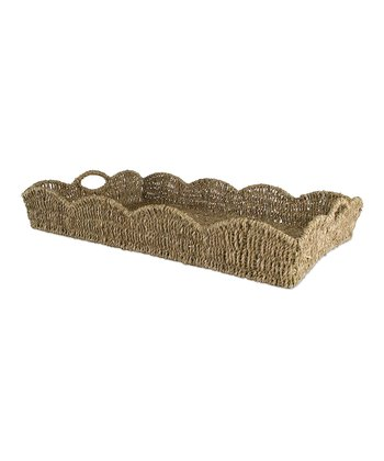 Coffee Large Scalloped Tray