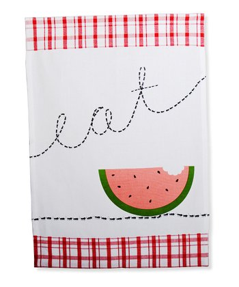 Red & White Picnic Ant Dish Towel