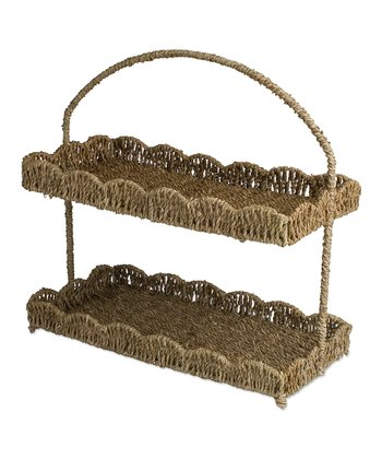 Coffee Scalloped Tiered Tray