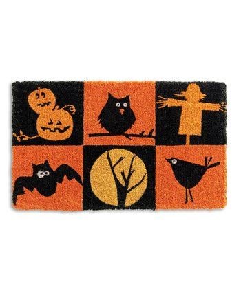 Black & Orange Halloween Doormat