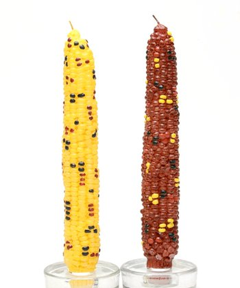 Harvest Corn Taper Candle - Set of Two
