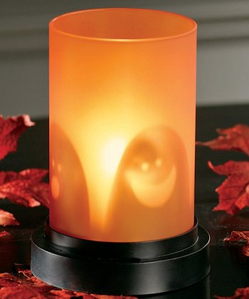 Ghostly Shadows Hurricane Candleholder