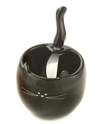 Black Cat Dip Bowl & Spreader