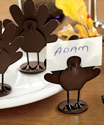 Turkey Place Card Holder - Set of Four