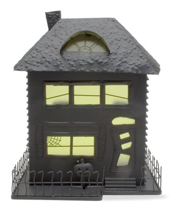 Black & Yellow Haunted House Candleholder