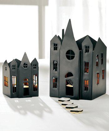 Haunted House Candleholder Set