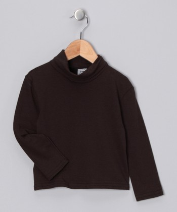 Brown Turtleneck - Toddler & Girls