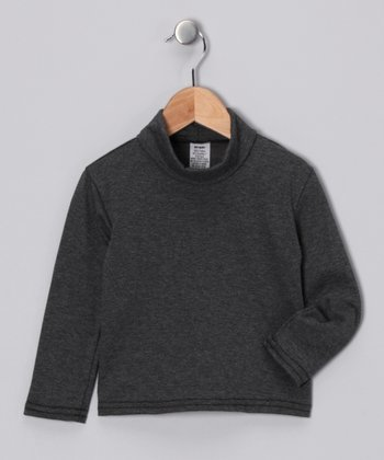 Dark Gray Turtleneck - Toddler & Girls