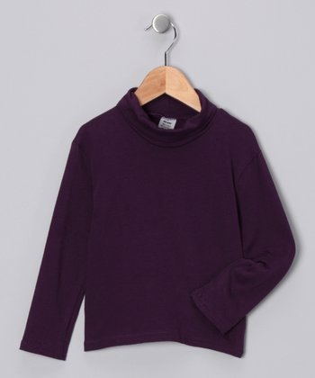 Purple Turtleneck - Toddler & Girls