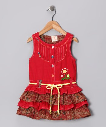Red Ruffle Tiered Dress - Infant, Toddler & Girls
