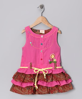 Pink Ruffle Tiered Dress - Infant