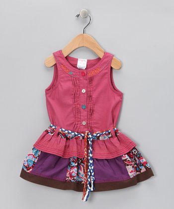 Faded Purple Patchwork Button-Up Dress - Infant, Toddler & Girls