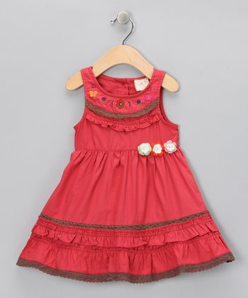 Red Butterfly Flower Dress - Infant, Toddler & Girls