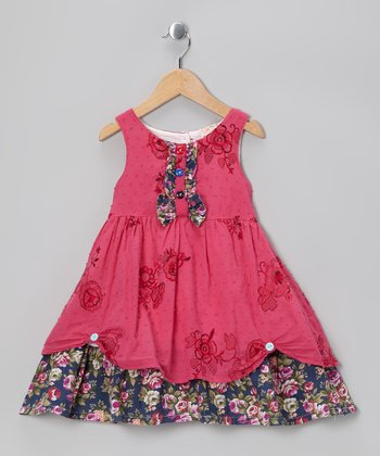 Pink Floral Cupcake Dress - Infant, Toddler & Girls