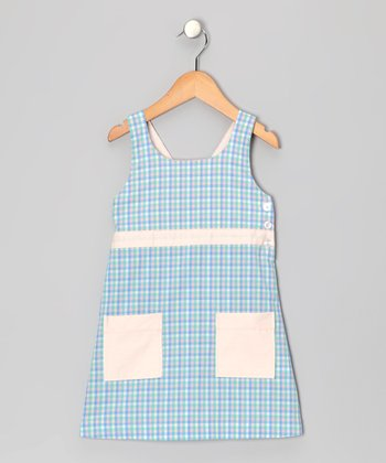 Blue Gingham Emily Dress - Toddler & Girls
