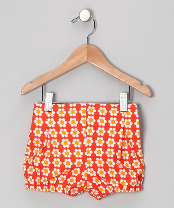 Red Daisy Sophia Shorts - Girls