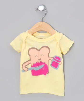 Soft Yellow Delicious Lapneck Tee - Infant