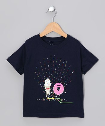 Navy Playin' in the Sprinkler Tee - Toddler